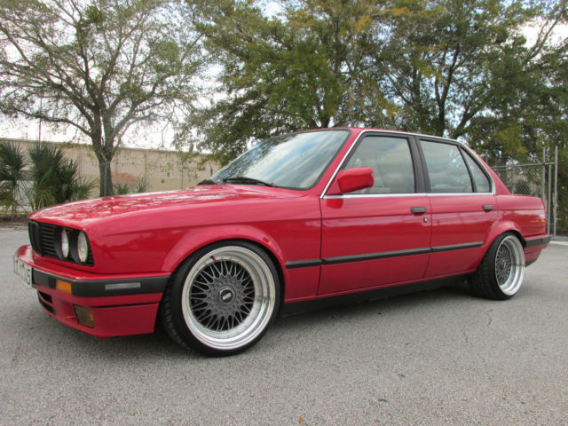 BMW 3-Series Sedan 1989 Red For Sale  WBAAD230XK8849666
