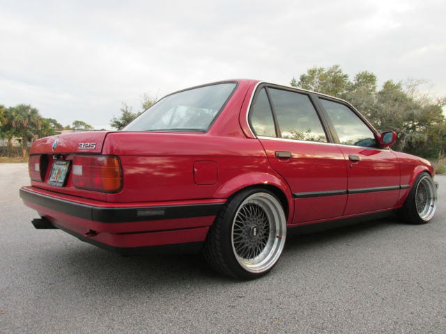 BMW 3Series Sedan 1989 Red For Sale WBAAD230XK8849666  BMW