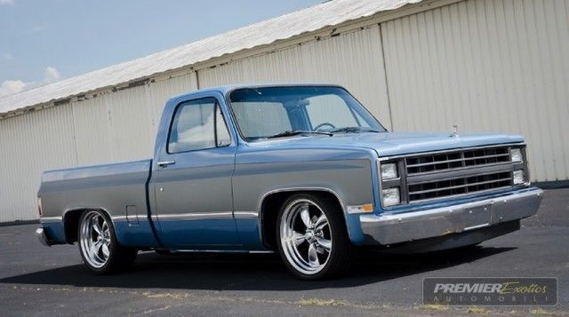 gmc sierra 1500 pickup truck 1986 blue for sale 1gtdc14h8gf726078 silverado c10 square. Black Bedroom Furniture Sets. Home Design Ideas