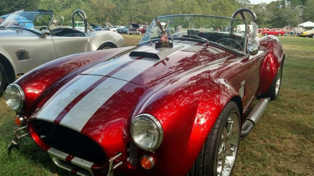 shelby cobra replica roadster 1965 candy apple red silver stripes for sale 08 factory five. Black Bedroom Furniture Sets. Home Design Ideas