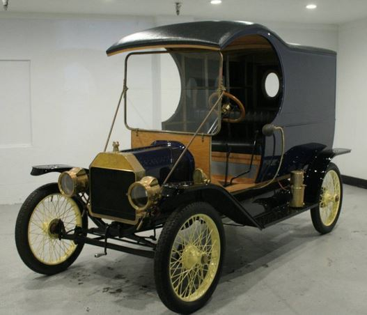4800 Miles Only In Redwood City California United States: Ford Model T 1912 Blue For Sale. 1912 Model T Ford C Cab Panel Delivery