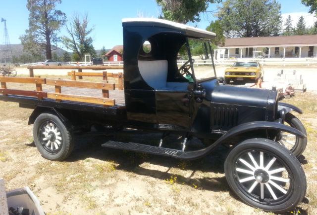 ford model t c cab flatbed 1924 black for sale 10690570 1924 ford model tt truck c cab. Black Bedroom Furniture Sets. Home Design Ideas