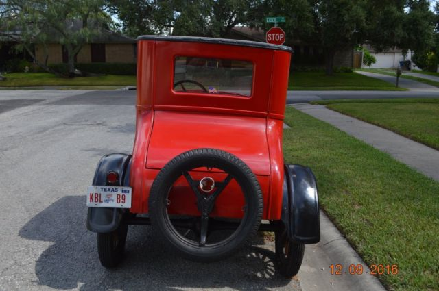 1926 Ford Model T Red Black Coupe 177 CID Inline 4 2 Speed Manual