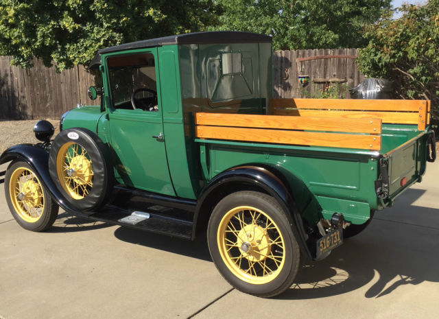Ford Model A Pickup Truck 1928 Dark Green With Black