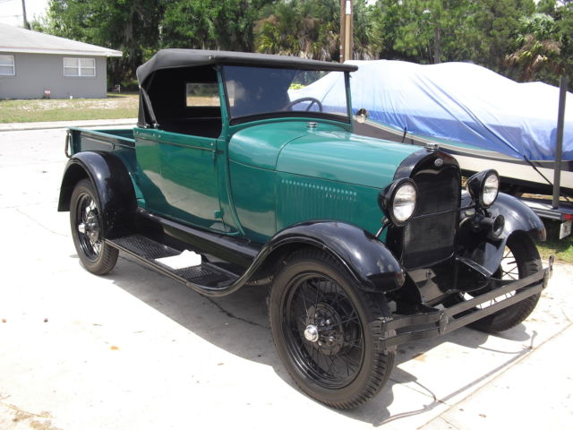 ford model a convertible pickup 1928 green black for sale 1928 ford model a roadster pickup. Black Bedroom Furniture Sets. Home Design Ideas