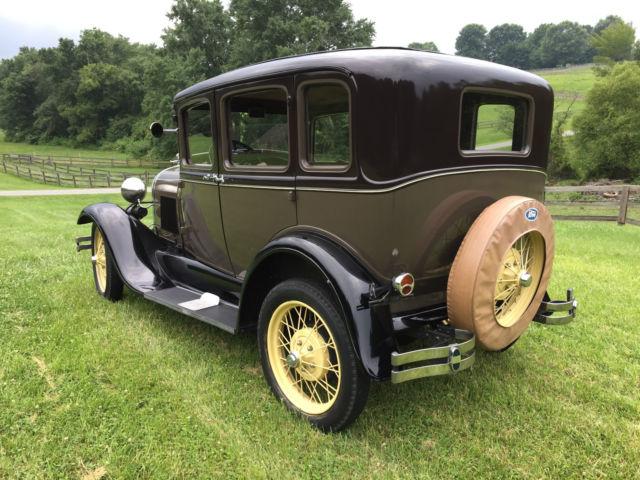 Ford model a four door sedan 1929 beige for sale a1333624 1929 ford model a 3 window fordor for 1929 ford model a 4 door sedan