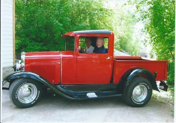 ford model a pickup 1931 corvette victory red for sale 1931 ford model a pickup street hot rod. Black Bedroom Furniture Sets. Home Design Ideas