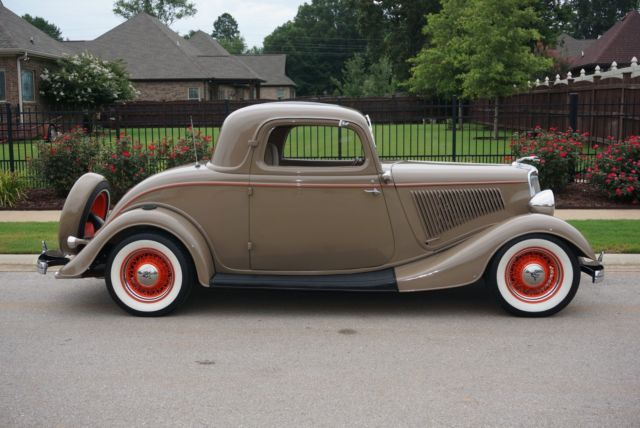 Ford other coupe 1934 tan for sale 181138375 1934 ford 3 for 1934 ford 3 window coupe for sale in canada