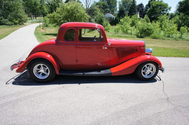 ford other coupe 1934 red for sale 1064865 1934 ford 5 window coupe all original steel body and. Black Bedroom Furniture Sets. Home Design Ideas