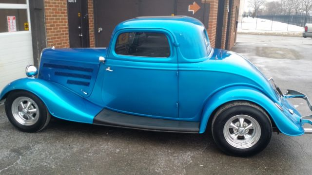 Ford other coupe 1934 blue for sale xfgiven vin xfields for 1934 ford three window coupe for sale