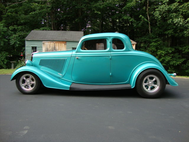 Ford coupe 5 window coupe 1934 custom teal pearl for sale for 1934 ford 5 window for sale