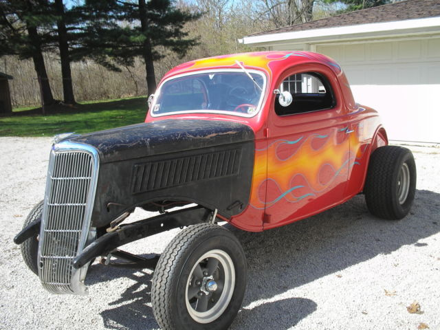 Ford other 3 window 1935 red for sale 1247815 1935 ford for 1935 ford 3 window