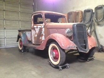 ford other pickups standard cab pickup 1935 for sale 1935 ford pickup truck hot rod rat all steel. Black Bedroom Furniture Sets. Home Design Ideas