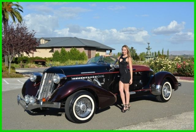 Replica/Kit Makes Speedster Convertible 1936 Black For