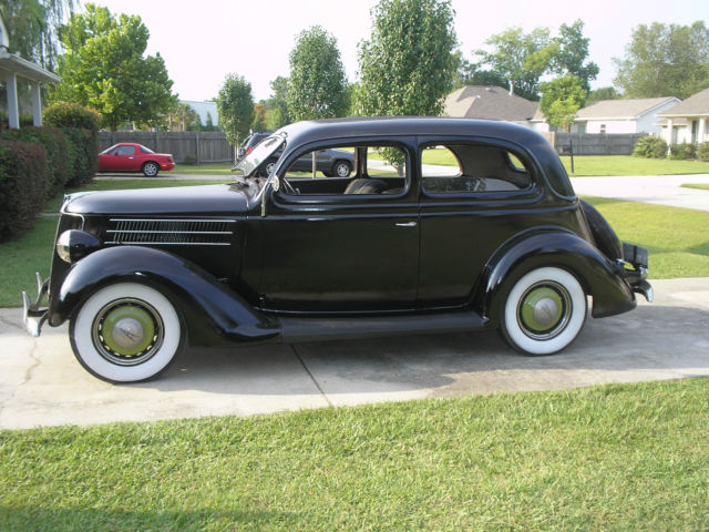 Ford model 68 slant back sedan 1936 black for sale for 1936 ford 4 door sedan for sale