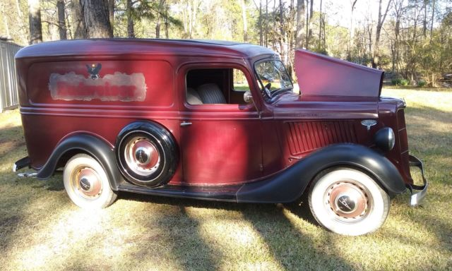Ford Model A Panel Truck 1936 Maroon For Sale  1936 Ford Panel Delivery Truck