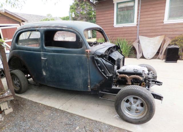 Ford two door slant back sedan 1937 blue for sale for 1937 ford 2 door slant back