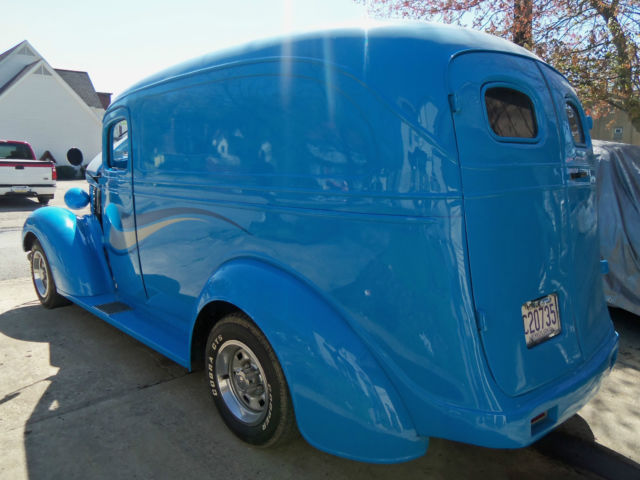 chevrolet other 1938 blue for sale 1938 chevy panel truck hot rod street rod custom delivery. Black Bedroom Furniture Sets. Home Design Ideas