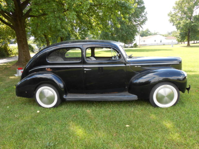 Ford deluxe 2 door sedan 1940 black for sale xfgiven vin for 1940 ford deluxe two door business coupe