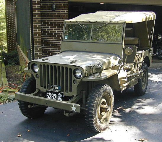 Willys Jeep Convertible Truck Convertible 1942 Olive Drab