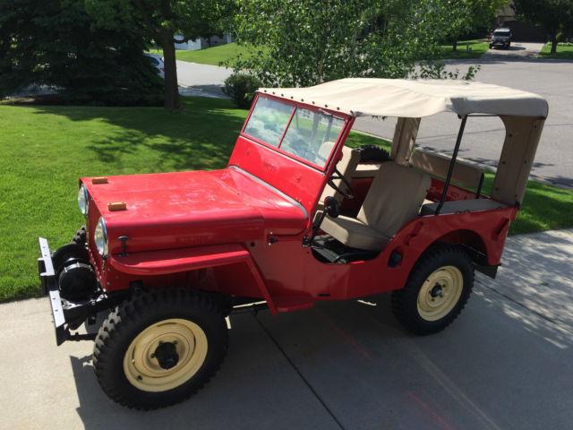jeep cj2a jeep 1946 red for sale 1946 cj2a jeep willys frame off restoration. Black Bedroom Furniture Sets. Home Design Ideas