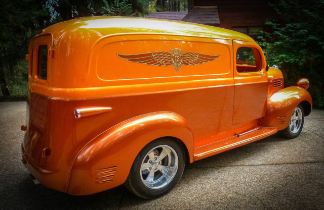 dodge other 2 door panel truck 1947 house of colors sunset over cinnamon for sale 411327920. Black Bedroom Furniture Sets. Home Design Ideas