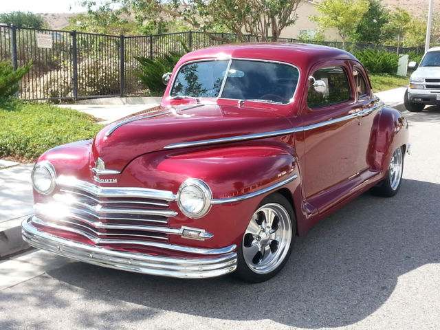 Plymouth hot rod coupe 1947 burgundy metallitc candy for 1947 plymouth 2 door coupe