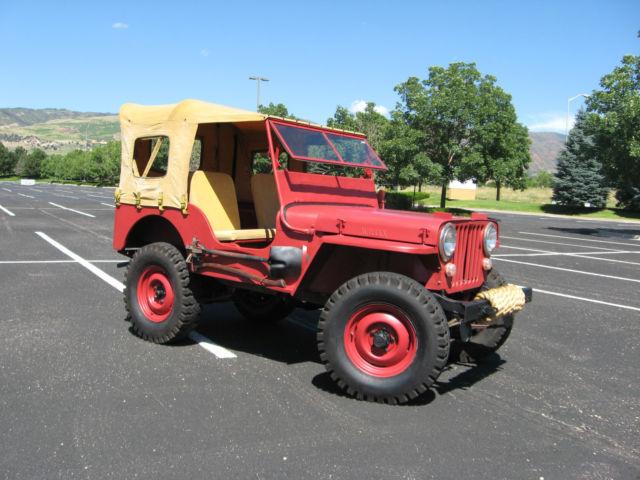 Groovy Jeep Cj 1947 For Sale 105045 1947 Willys Cj2A Jeep Wiring Cloud Planhouseofspiritnl