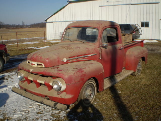 Ford Other Pickups 1951 Red For Sale  F1r1hm49523 1951