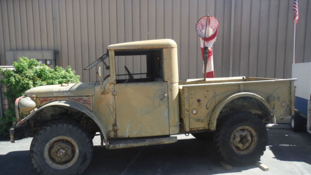 Dodge Power Wagon Military truck with hardtop 1952 OD green For Sale