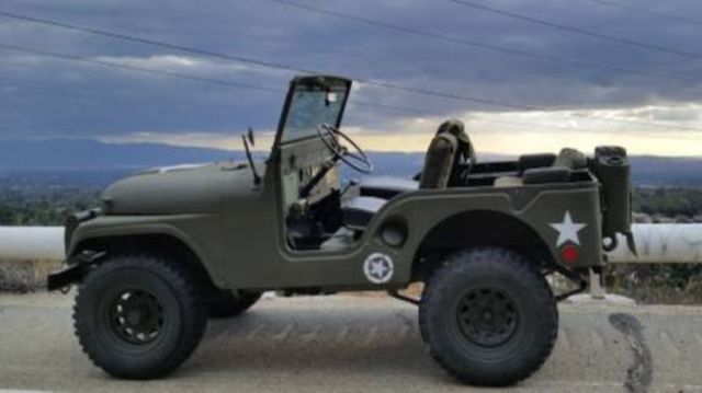 willys cj 5 suv 1952 army green for sale 1952 jeep cj5 military issued willys m38. Black Bedroom Furniture Sets. Home Design Ideas
