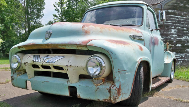 Ford F 100 Standard Cab Pickup 1953 Seafoam With Rust