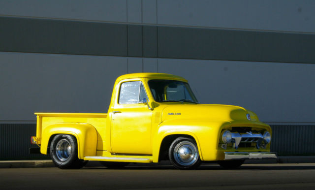 ford f 100 pickup truck 1954 yellow for sale 111111111 1954 ford f 100 429 big block power. Black Bedroom Furniture Sets. Home Design Ideas