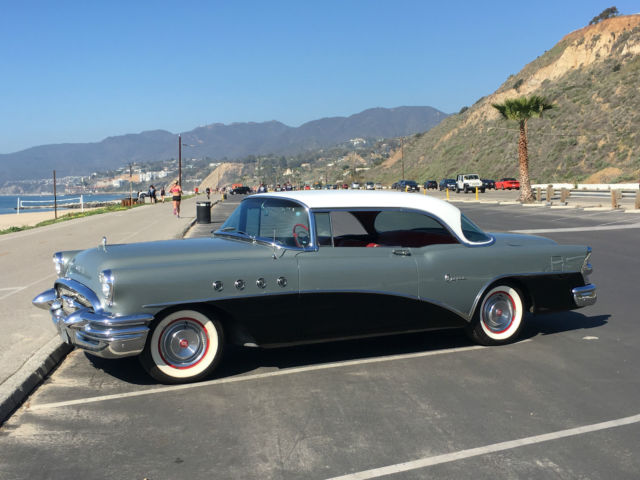 Buick super riviera hardtop coupe 1955 black gray white for 1955 buick riviera 56r super 2 door hardtop