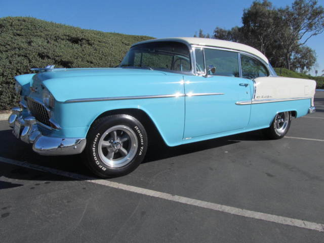 Chevrolet bel air 150 210 sport coupe 1955 cashmere blue for 1955 chevy belair 2 door post for sale