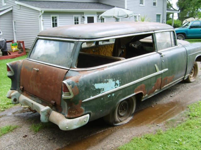 Chevrolet Bel Air 150 210 Wagon 1955 Black For Sale