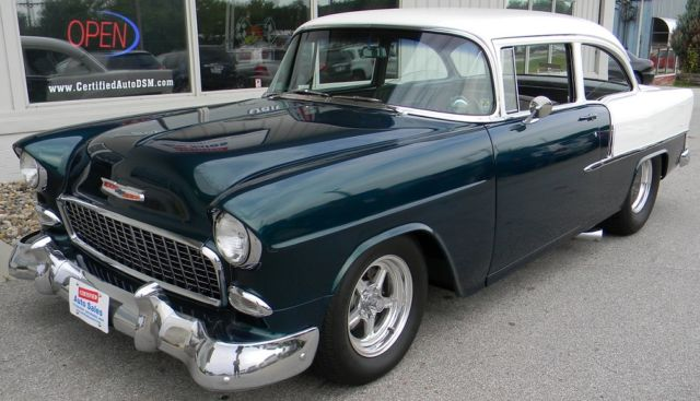 Chevrolet Bel Air 150 210 1955 White Dark Green For Sale