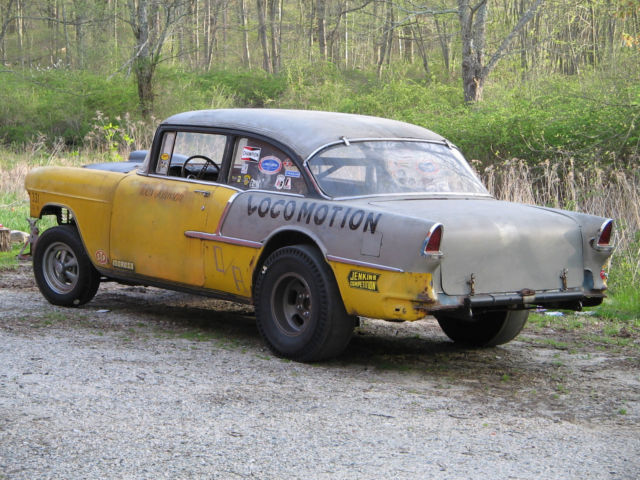 1955 Chevy 210 D Altered Locomotion Barn Find Survivor Gasser Vintage Drag Car