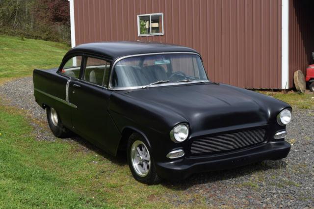 Chevrolet bel air 150 210 two door post 1955 black for for 1955 chevy belair 2 door post for sale