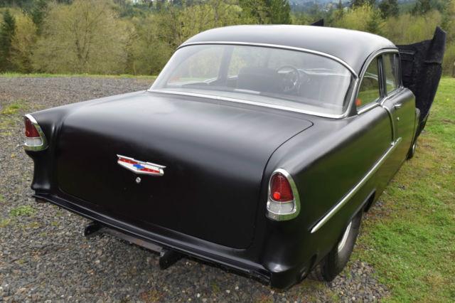 Chevrolet Bel Air/150/210 Two Door Post 1955 Black For Sale