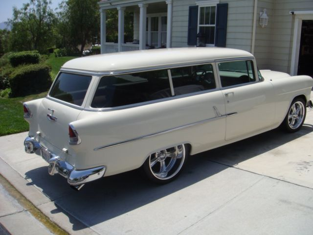 chevrolet bel air  150  210 wagon 1955 tan for sale
