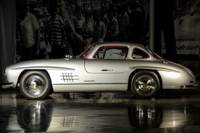 Mercedes benz sl class coupe 1955 silver for sale for Mercedes benz 300sl gullwing for sale