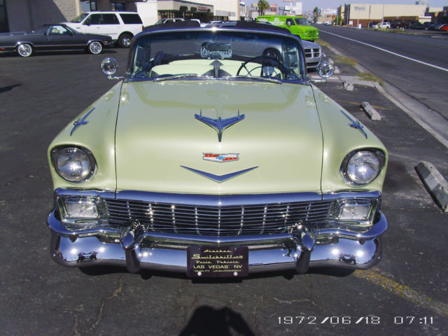 chevrolet bel air 150 210 convertible 1956 green for sale vc560069759 1956 bel air convertible. Black Bedroom Furniture Sets. Home Design Ideas