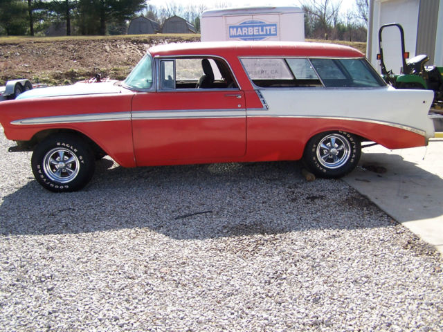 chevrolet bel air  150  210 wagon 1956 red for sale  1956 chevy nomad belair 1955 1957 62 rod wagon