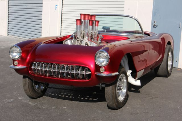 chevrolet corvette 1956 candy apple red for sale 1956 corvette gasser ex drag car from the. Black Bedroom Furniture Sets. Home Design Ideas