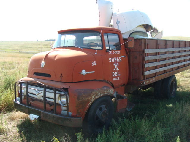 Ford Coe 1956 Red For Sale 1956 Ford F 600 Cabover Truck Coe 2 1 2