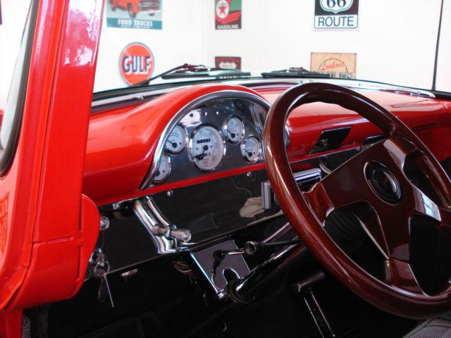 ford f 100 standard cab pickup 1956 red for sale ncs90795 1956 ford truck red exterior light. Black Bedroom Furniture Sets. Home Design Ideas