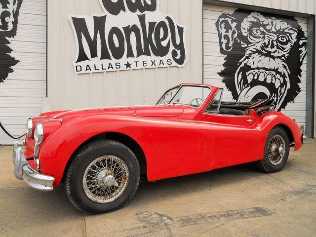 jaguar xk convertible 1956 red for sale g568585 1956 jaguar xk140 dhc winery estate find. Black Bedroom Furniture Sets. Home Design Ideas
