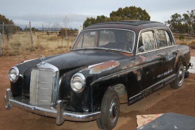 Mercedes benz 200 series sedan 1956 black for sale 180010 for 1953 mercedes benz 220 sedan for sale