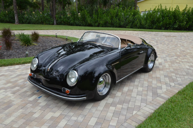 Porsche 356 convertible 1956 black for sale nm175818 1956 for Classic motors for sale